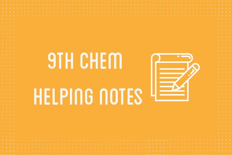 9th Class Chemistry Helping Notes of All Chapters in PDF