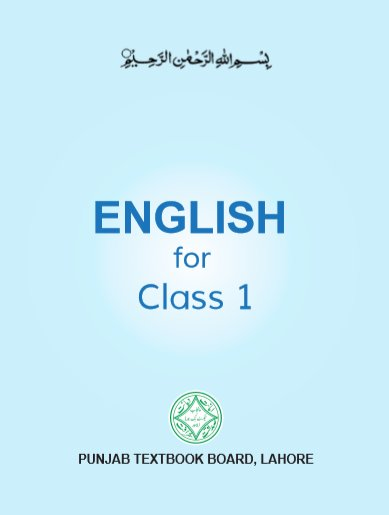 Class-1 English Text Book in PDF by Punjab Text Book Board Lahore