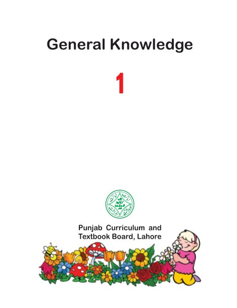 Class - 1 GK Text Book (General Knowledge) for English Medium (EM) by PCTB