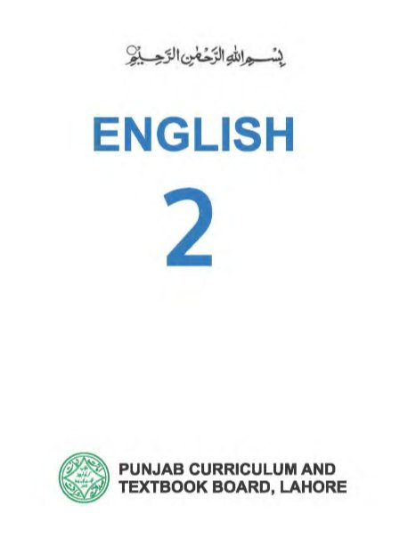 Class-2 English Text Book in PDF by Punjab Text Book Board Lahore
