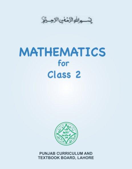 2nd Class (Class-2) Maths English Medium Text book by Punjab Board PDF