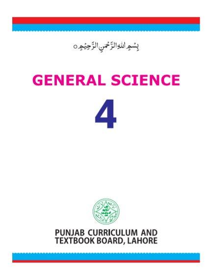 4th Gen. Science PDF by Punjab Board for English Medium Students