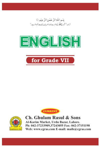 (7th) Seven Class English Text Book by PCTB in PDF